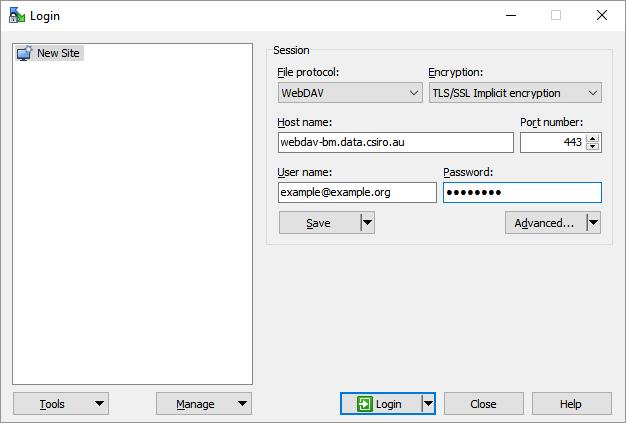 WinSCP - WebDAV - Data Access Portal User Guide - Confluence
