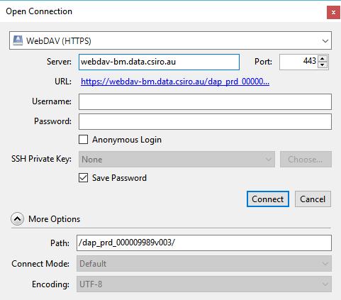 Cyberduck - WebDAV - Data Access Portal User Guide - Confluence