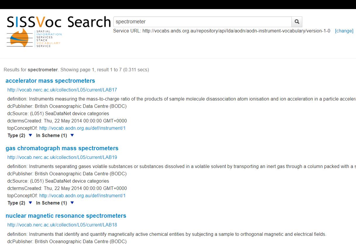 SISSVoc Search